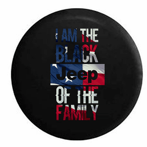 I Am The Black Jeep of the Family Jeep Wrangler Tire Cover In Multiple Sizes On Amazon