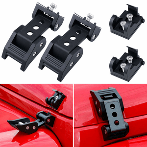 Jeep Latch Lock Hood Catch Kit for 2007-2018 Jeep Wrangler JK JKU (Black) On Amazon