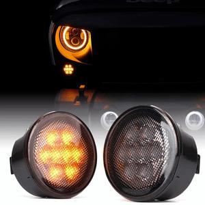 Xprite LED Turn Signal Light With Smoked Lens For 2014-2018 Jeep Wrangler JK JKU On Amazon