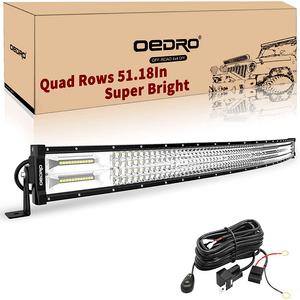 Jeep Wrangler JK 50-Inch LED Light Bar Combo Kit With Mounting Brackets On Amazon