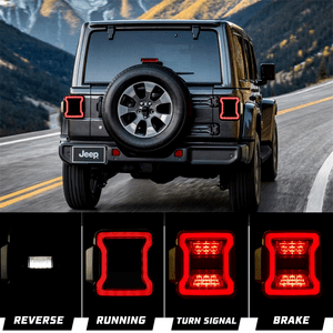 Smoked LED Tail Lights For 2018-2021 Jeep Wrangler JL Brake Light Reverse And Turn Signal Light On Amazon
