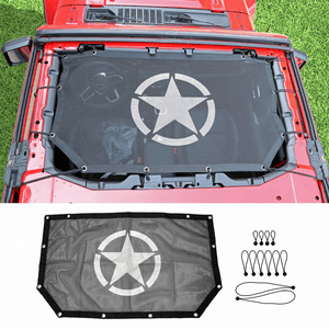 Jeep Sunshade Mesh Top Cover UV Sun Protection For Jeep Wrangler JL 2-Door Models On Amazon