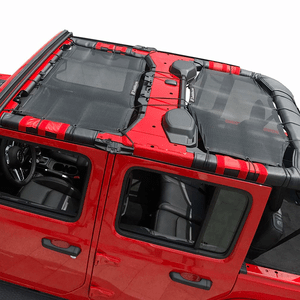 Jeep Sunshade For 2018-2021 Jeep Wrangler JL 4 Door With 2-Piece Front & Rear On Amazon