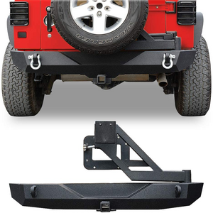 Black Rock Crawler Jeep Wrangler JK Rear Bumper Heavy Duty With 2-Inch Hitch Receiver On Amazon