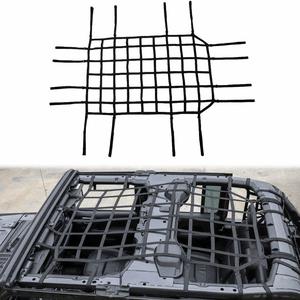 Heavy-Duty Jeep Cargo Net Mesh Roof Net For 2018-2021 Jeep Wrangler JL Models On Amazon