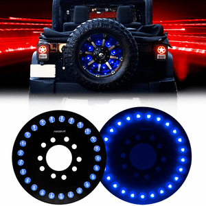 Blue Jeep Spare Tire Brake Light For 2007-2017 Jeep Wrangler JK JKU Models With Blue LEDs On Amazon