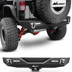 Nilight Rock Crawler Jeep Wrangler JK Rear Bumper With Two 4.75 Ton With D-Rings On Amazon