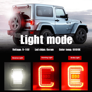Durable ABS Smoke Jeep LED Tail Lights For All 2007-2018 Jeep Wrangler JK Models On Amazon