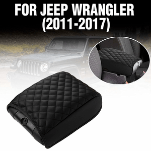 Custom Fit Quilted Jeep Console Cover For 2011-2017 Jeep Wrangler JK Center Console Armrest On Amazon