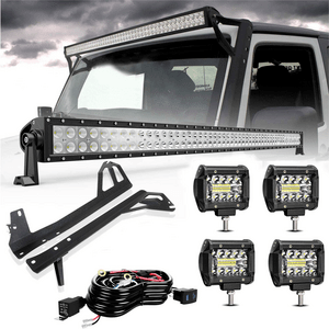 Jeep Light Bar 52-Inch LED Light Bar With All Brackets For Jeep Wrangler JK 2007-2017 On Amazon
