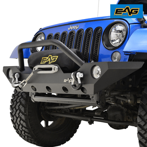 Jeep Wrangler JK Rock Crawler Off road Front Bumper with Winch Mounting Plate