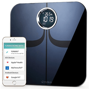 Yunmai Premium Bluetooth Smart Body Fat Scale and Body Composition Monitor with Free Fitness App and Extra Large Display